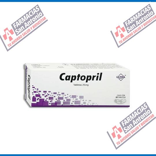 Captopril 25mg 30 tabletas PROMOCION