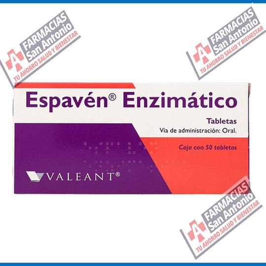 ESPAVÉN ENZIMATICO VIA ADMINISTRACIÓN ORAL CAJA CON 50 TABLETAS PROMOCIÓN