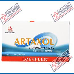 ARTAXOL INDOMETACINA SUPOSITORIOS 100MG 15 SUPOSITORIOS  Promoción