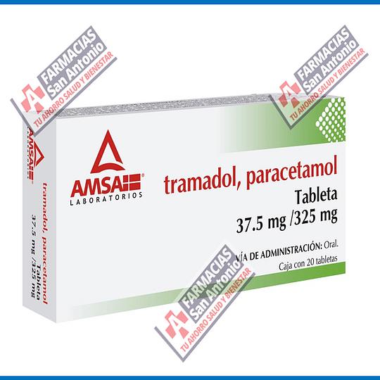 tramadol , paracetamol 37.5 mg / 325 mg 20 tabletas Promoción