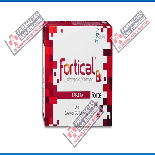 Fortical diclofenaco / vitamina 30 tabletas Promoción
