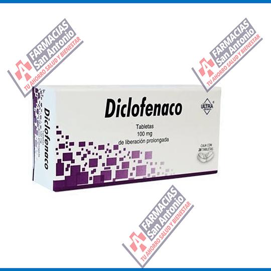 Diclofenaco 100mg 20 tabletas Promocion
