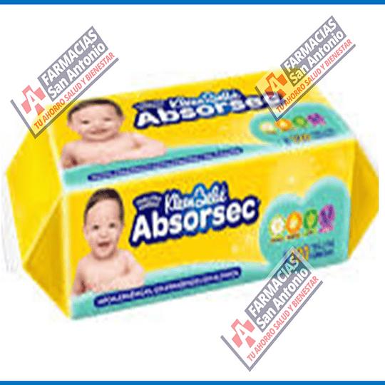 Toallitas humedas Kleen Bebe Absorsec 120 toallitas