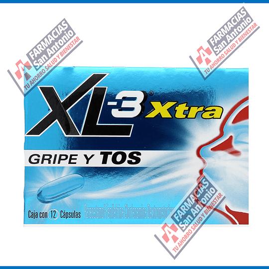 Xl3 Extra gripe y tos 12 tabletas