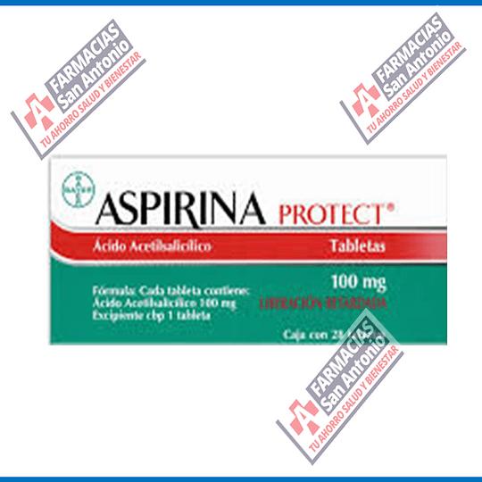 Aspirina protec 100mg 28tabletas