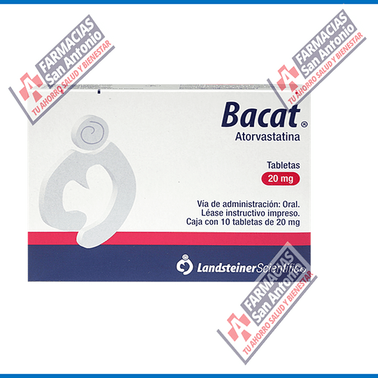 BACAT ASTORVASTATINA 20 mg 10 tabletas Promoción