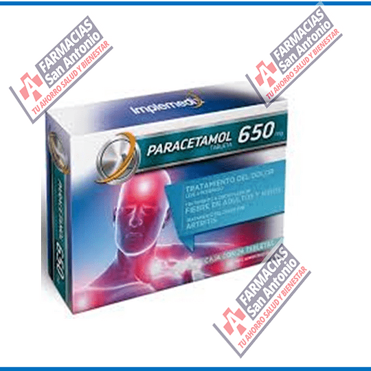 Paracetamol 650mg 24tab  promocion