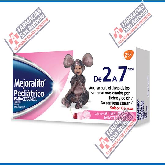 Mejoralito Pediatrico paracetamol 30tab masticables