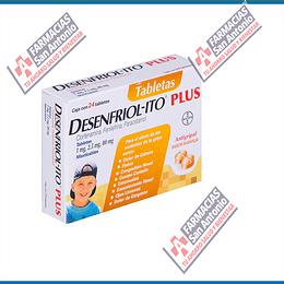 Desenfriolito plus infantil 24 tab sabor naranja