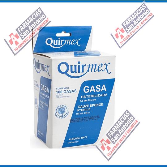 Gasa 10cm X 10cm caja 100piezas esteriles Quirmex
