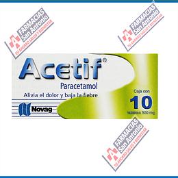 Paracetamol 500mg (10tabletas) acetif Promoción