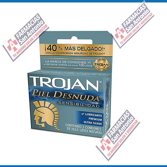 Trojan piel desnuda promoción (3condones)