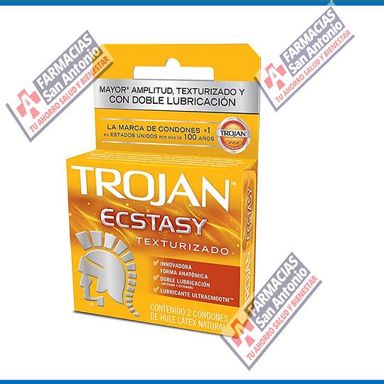 Trojan ecstasy Promoción (2 condones)