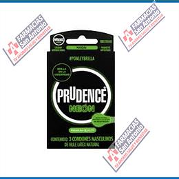 Prudence neón Promoción (3condones)