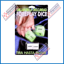 foreplay dice (brillan en la obscuridad) (2 dados)