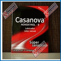 casanova nonoxynol-9 lubricados super sensitivo 3 condones Promoción