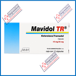 Mavidol TR 10mg/25mg (ketorolaco / tramadol) capsulas 10  Promoción