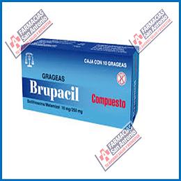 Brupacil Butilihioscina/Metamizol 10mg/250mg 10 grageas Promoción