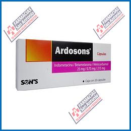Ardosons Indometacina,Bentametasona, metocarbamol (20cápsulas) Promoción