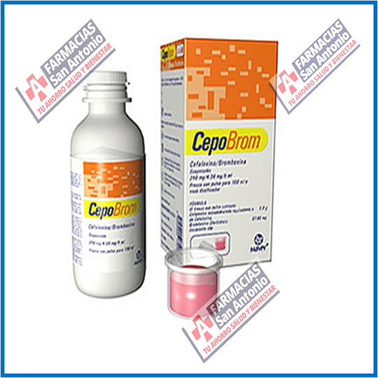 Cefalexina bromhexina suspension 250/4.39mg 100ml