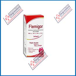 Flemigol Infantil Guaifesina , Fenilefrina , Dextrometorfano Solución 200mg-100mg-200mg/100ml caja con frasco de 150ml Promoción