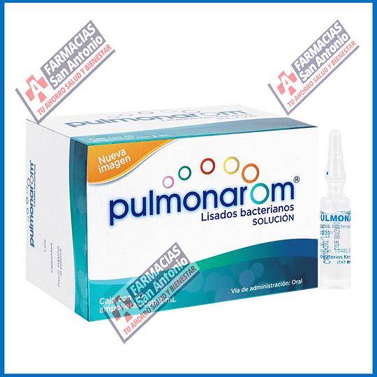 Pulmonarom 10 ampolletas con 3ml lisados bacterianos