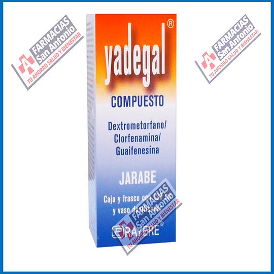 Yadegal compueto Dextrometorfano/Guaifenesina/Clorfenamina 120ml Promoción