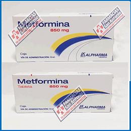 Metformina 850mg (30tabletas) Promoción 2 cajas