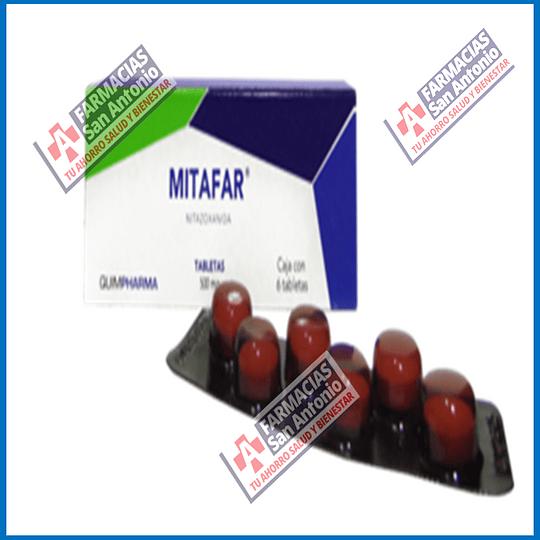 Mitafar Nitazoxadiina 500mg 6 tabletas Promoción