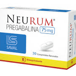 Neurum 75 mg 30 comprimidos ranurados
