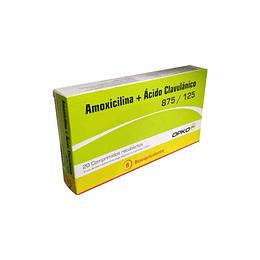 Amoxicilina + acido clavulánico 875/125 x 20 comprimidos recubiertos