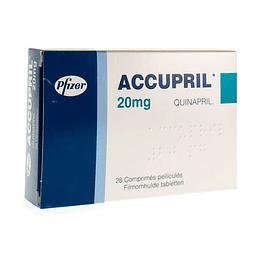 ACCUPRIL COM 20 MG X 28