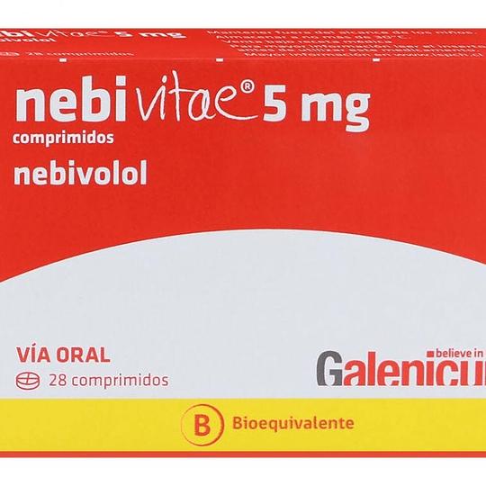 Nebivitae 5 mg 28 comprimidos
