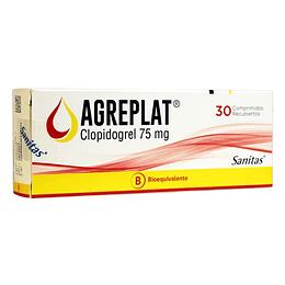 Agreplat 75 mg, 30 comprimidos