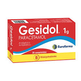 GESIDOL 1 G BE (I) x 20 Comprimidos