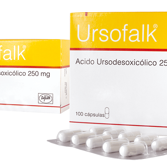 Ursofalk 250 mg por 100 cápsulas