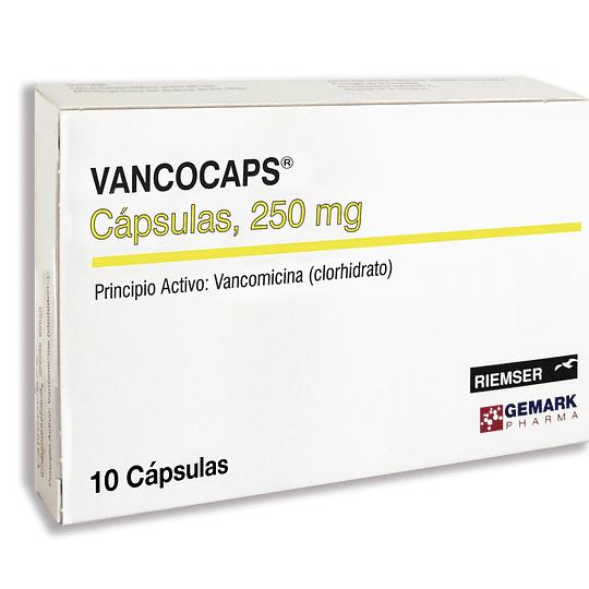 Vancocaps 250mg por 10 Cápsulas