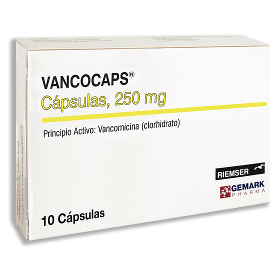 Vancocaps, 250 mg, 10 cápsulas