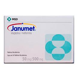 Janumet 50 mg / 500 mg 56 tabletas
