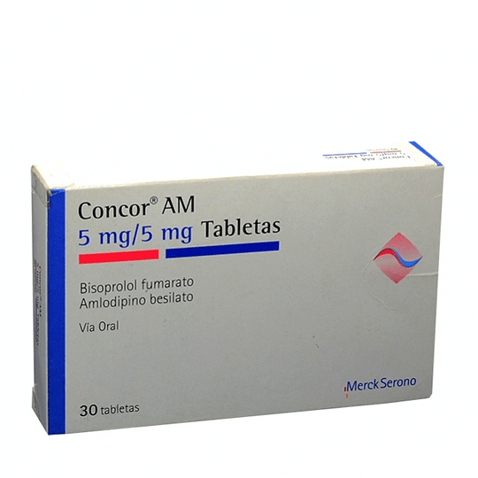 Concor AM com 5 mg / 5 mg  30 Tabletas