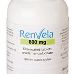 Renvela Tableta Recubierta 800 Mg por 180 unidades