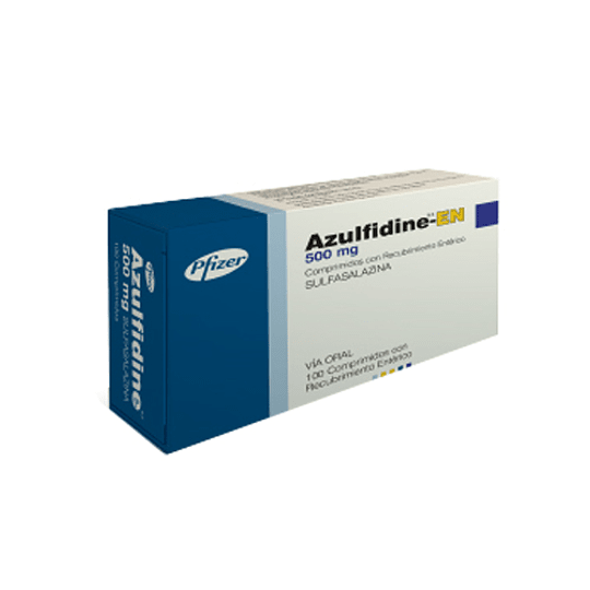 Azulfidine R-EN Tableta 500 Mg por 100