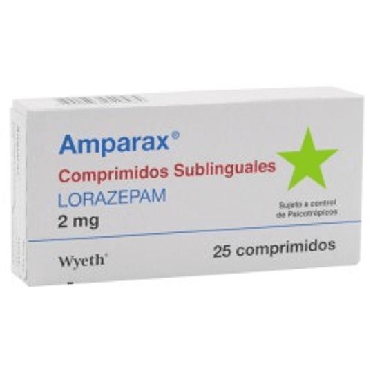 Amparax 2 mg, 25 comprimidos sublinguales.