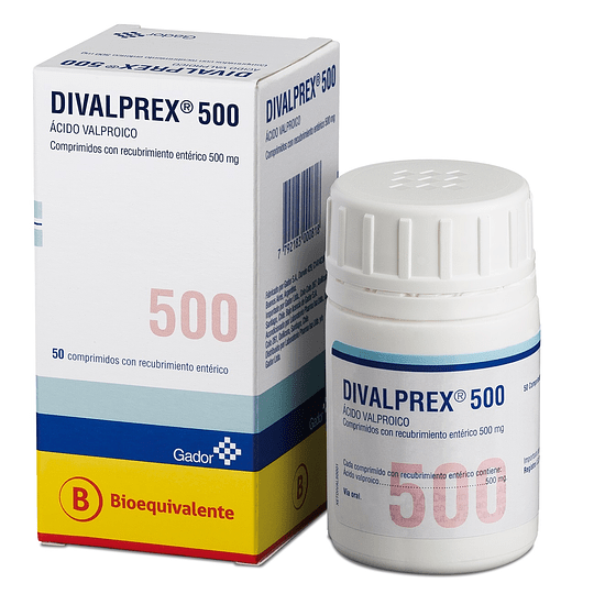 Divalprex Tableta Recubierta 500 Mg por 50 unidades