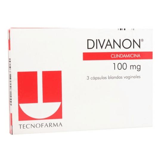 Divanon 100 mg 3 cápsulas vaginales
