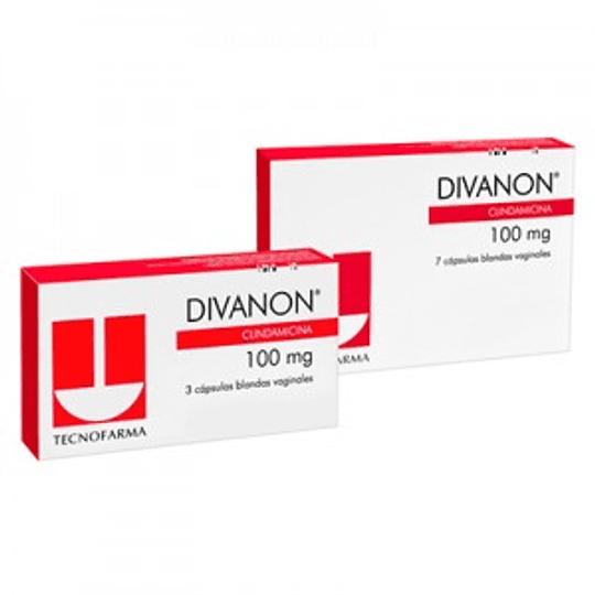 Divanon 100 mg 7 cápsulas vaginales