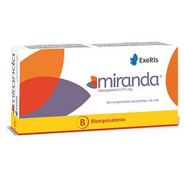 Miranda Tableta Recubierta 0,75 mg por 28 unidades