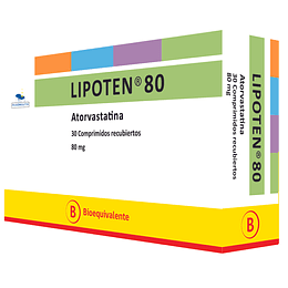 Lipoten 80 mg 30 comprimidos