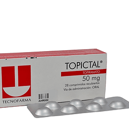 Topictal 50 mg 28  comprimidos