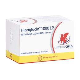 Hipoglucin LP 1000 mg 60 Comprimidos